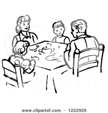 450x470 Dinner Clipart Dinnertime Clipart Christmas Dinner Table