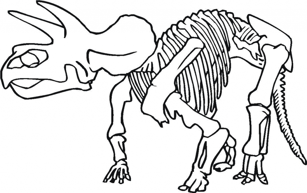 1024x645 Printable 18 Dinosaur Bones Coloring Pages 5000