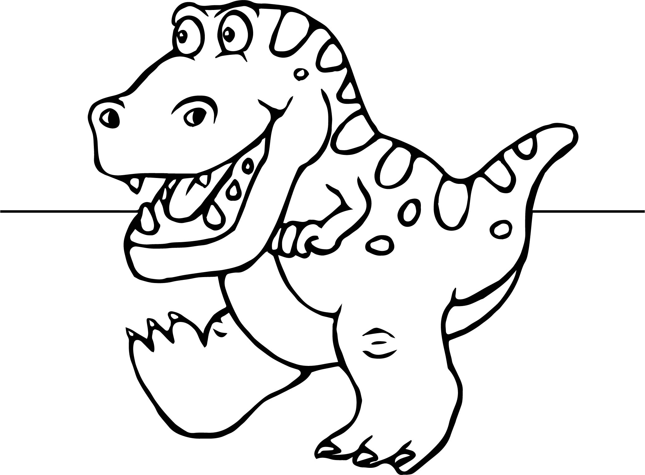 2069x1524 Dinosaur Cartoon Funny Coloring Page Wecoloringpage