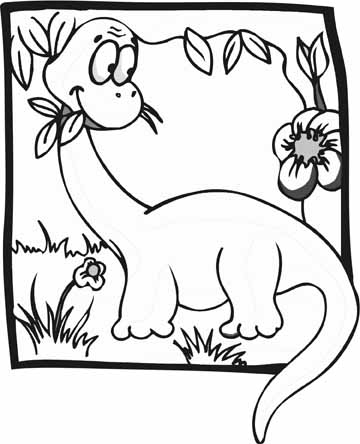360x444 Dinosaur Coloring Pages