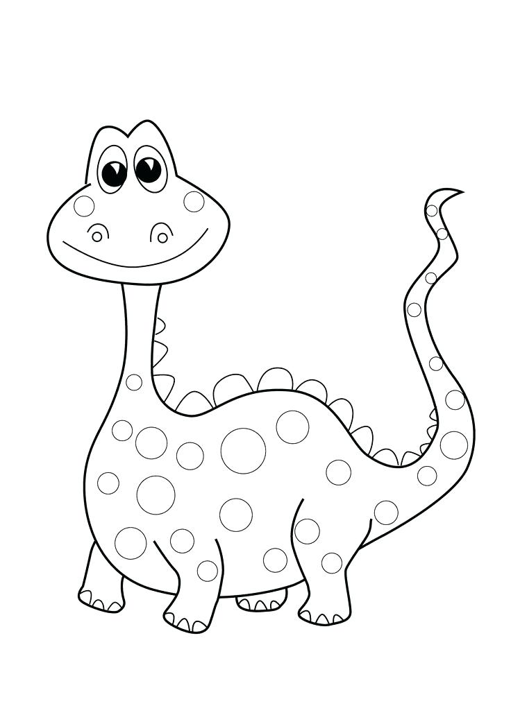 736x1031 Cartoon Dinosaur Coloring Pages Funny Dinosaur Coloring Page