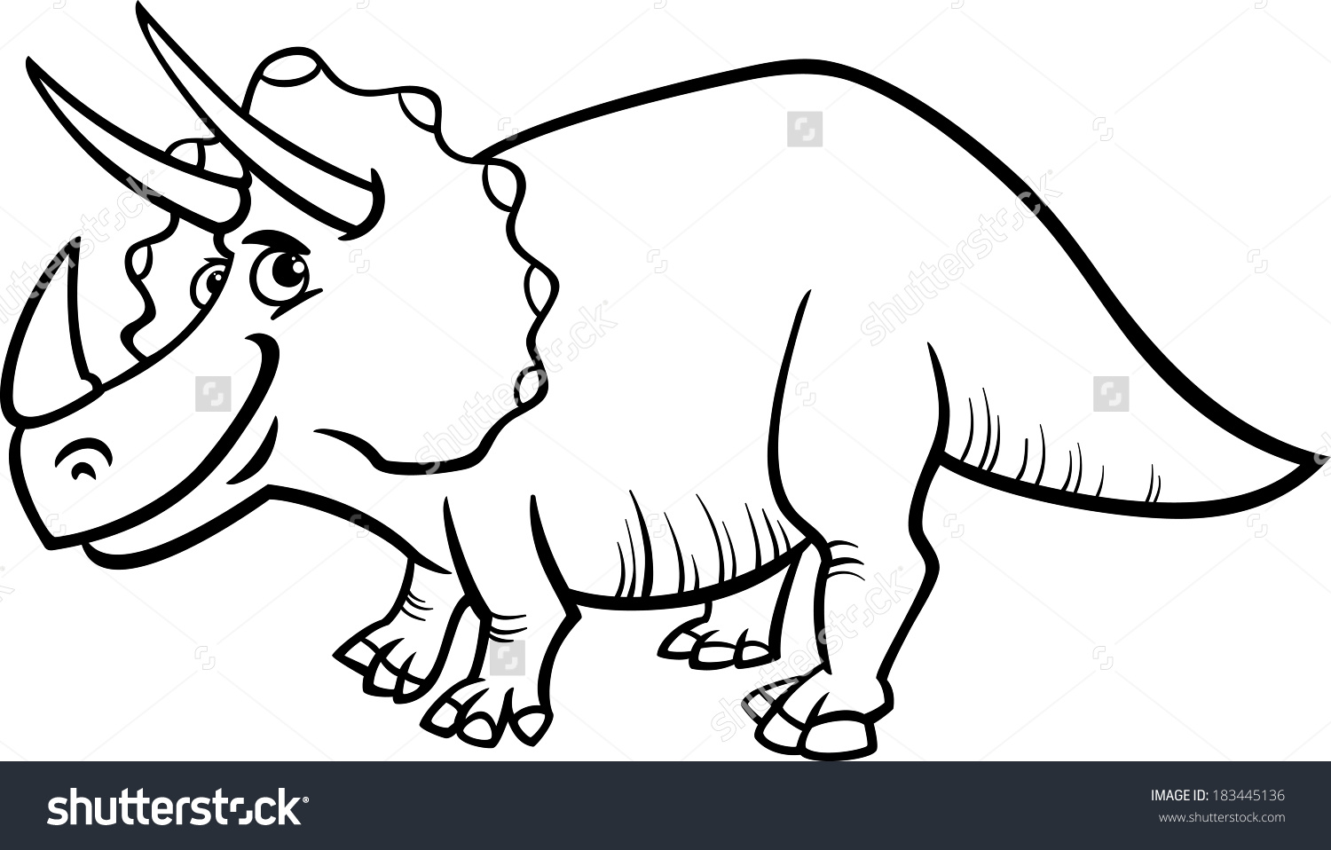 1500x958 Triceratops Clipart Dinosaur Outline