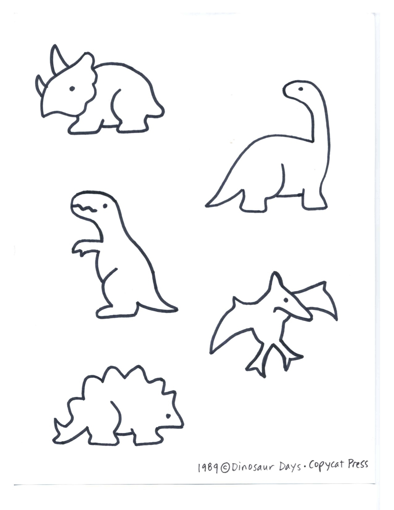 1275x1650 Dinosaurs Kindergarten Nana intended for Simple Dinosaur Drawing