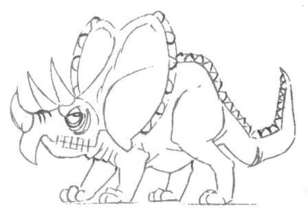 448x319 Drawn dinosaur pencil drawing