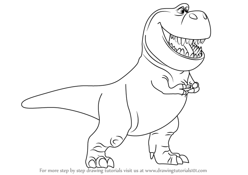 800x566 Learn How to Draw Nash from The Good Dinosaur (The Good Dinosaur