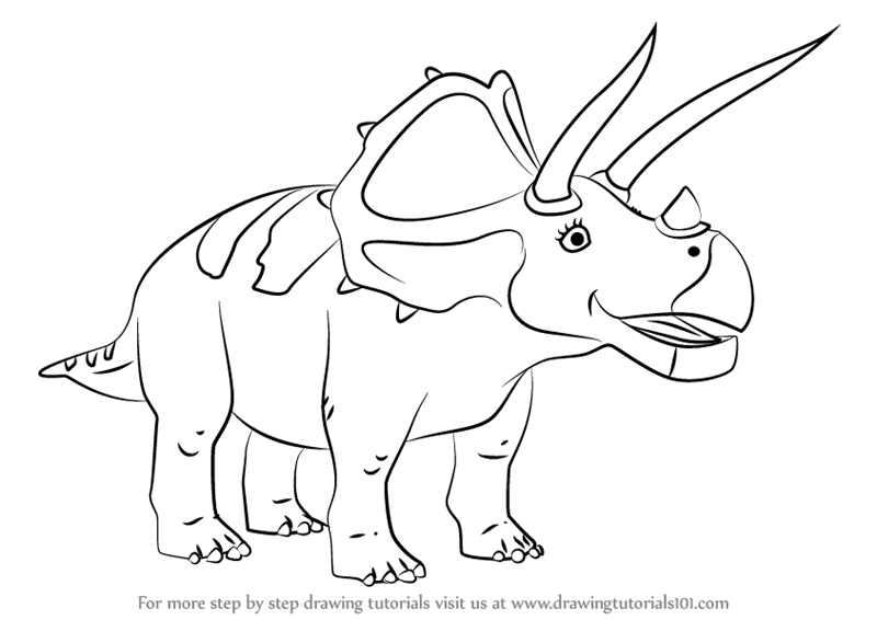 800x566 Learn How To Draw Truman Triceratops From Dinosaur Train (Dinosaur