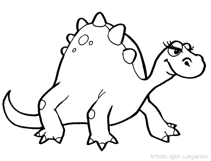 800x608 Drawing Animated Dinosaur Drawings With Simple Cartoon Dinosaur