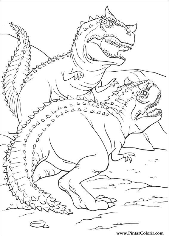 567x794 Drawings To Paint Amp Colour Dinosaur