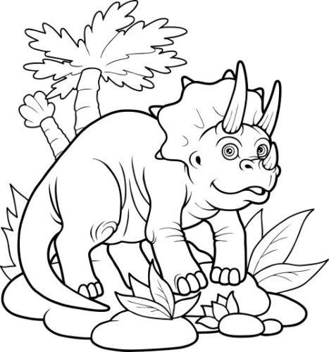 467x500 Fun Dinosaur Coloring Pages Imagiplay