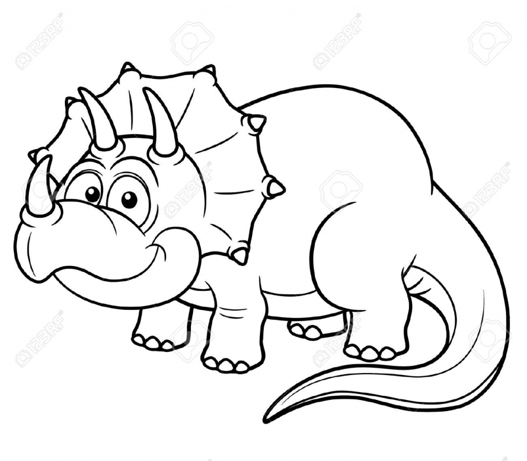 1024x896 Cartoon Dinosaur Drawing Vector Illustration Of Cartoon Dinosaur