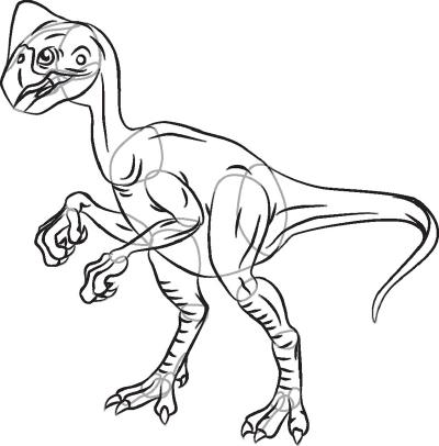 400x406 To Draw A Dinosaur Oviraptor