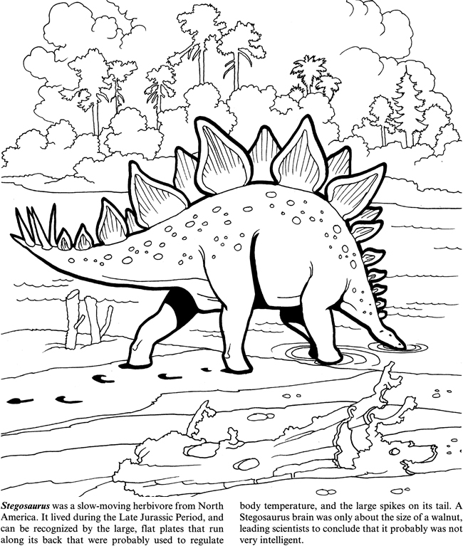 650x767 Dinosaurs! Coloring Book By Jan Sovak