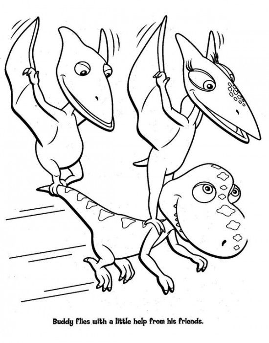 550x700 Dinosaur Train Coloring Pages
