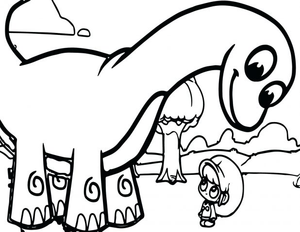 618x479 Baby Dinosaur Coloring Pages The Hatches From Egg And Book Party