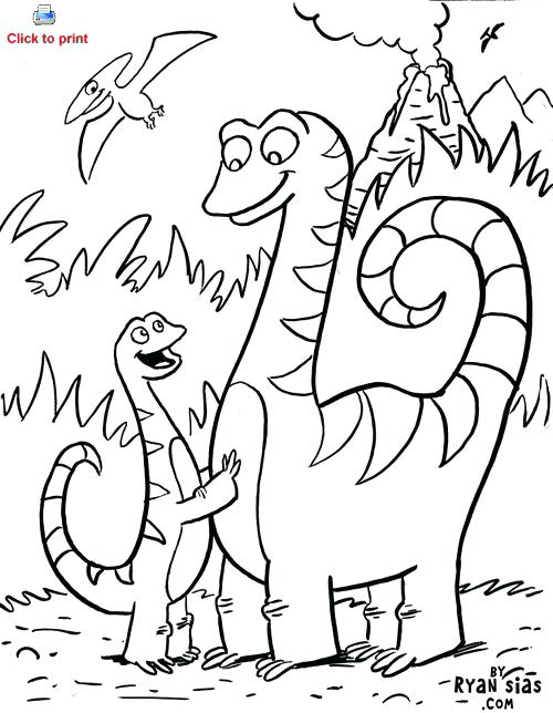 500x644 Printable Dinosaur Coloring Pages With Names 2 Dinosaurs Draw