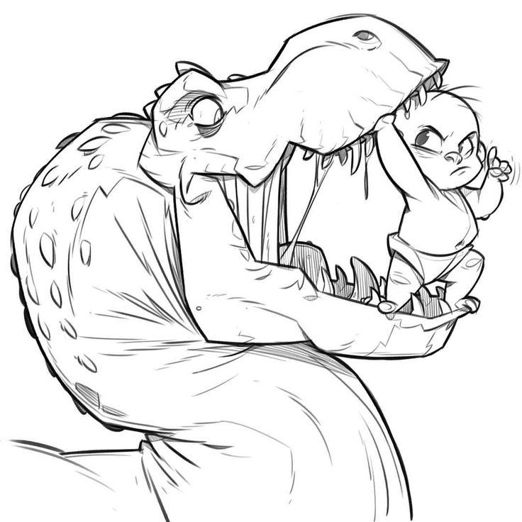 Dinosaur Drawing Cartoon