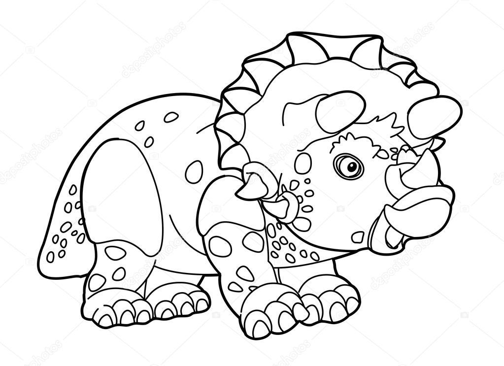 1023x743 Cartoon Dinosaur