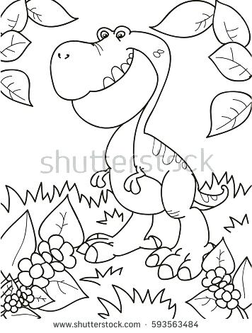 356x470 Coloring Books Kids And Coloring Page Outline Of Cartoon Dinosaur