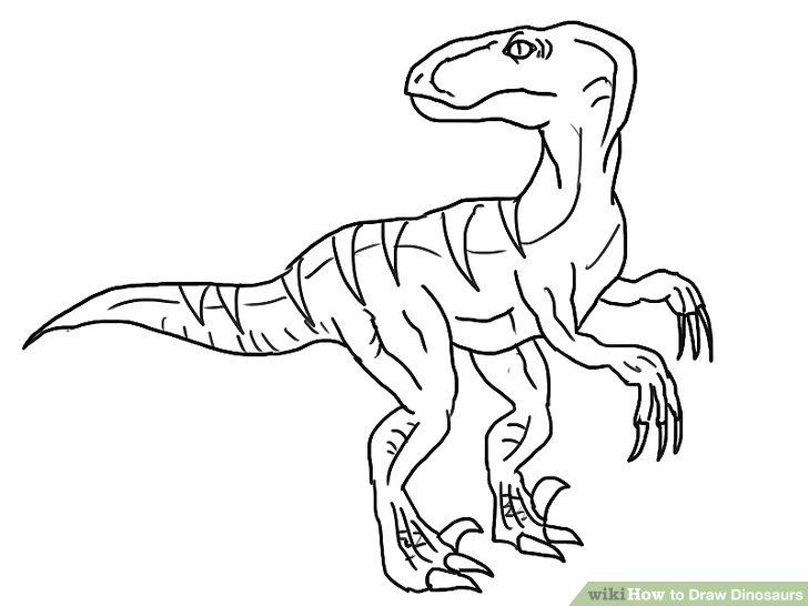 728x546 Coloring Pages Easy To Draw Dinosaur Cartoon Dinosaurs 004