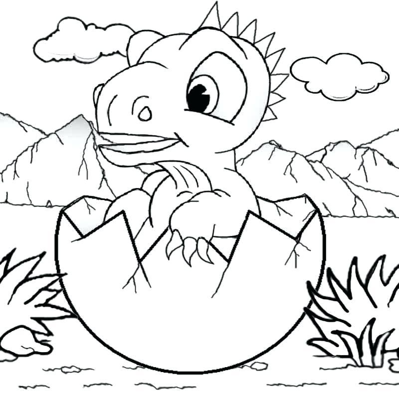 800x800 Cartoon Dinosaur Coloring Pages Cartoon Baby Dinosaur Coloring