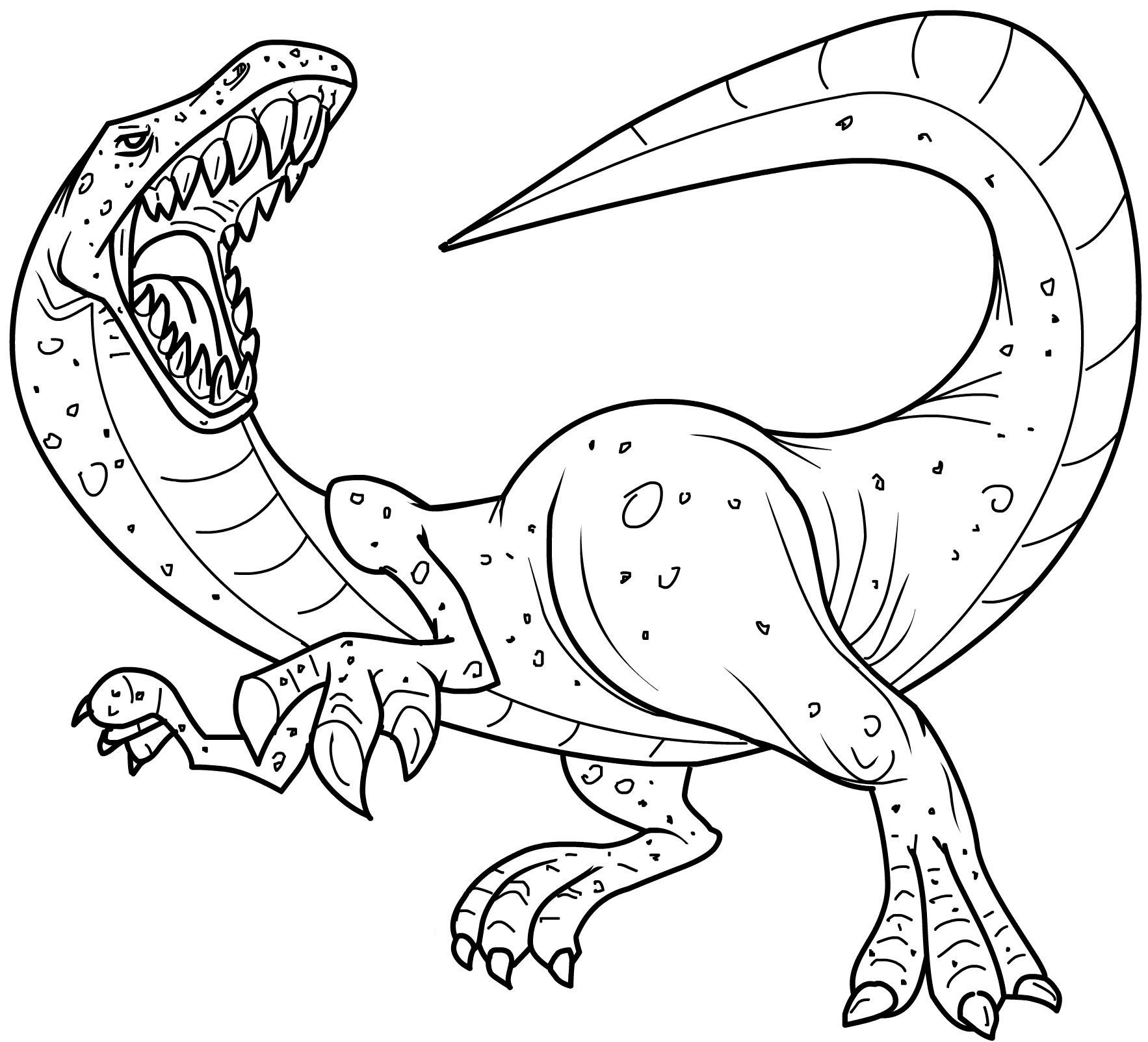1766x1604 Free Printable Dinosaur Coloring Pages In Funny Draw Kids