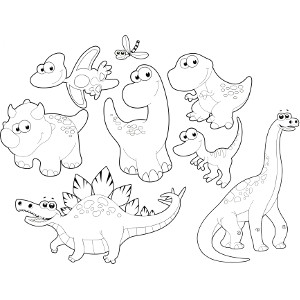 300x300 Free Printable Dinosaur Coloring Pages For Kids