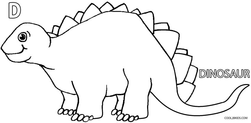 850x417 Printable Dinosaur Coloring Pages For Kids Cool2bKids