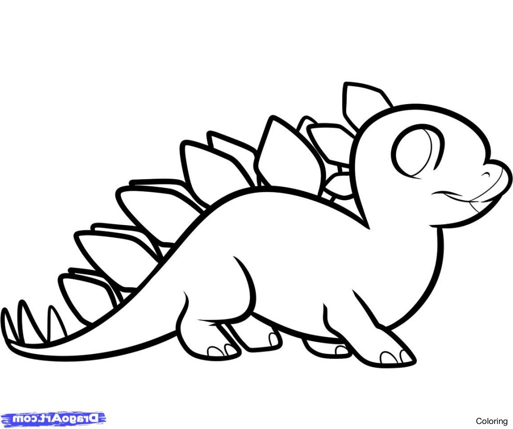 1024x857 Stegosaurus Coloring Page How To Draw A Click The Young 8f Easy