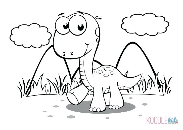 728x516 Baby Dinosaur Coloring Pages For Preschoolers Flower To And Print