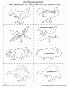 235x304 Dinosaur Matching Game Matching Games, Worksheets And Activities
