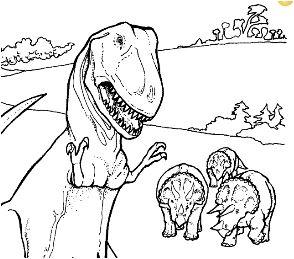 294x259 Camptosaurus Jurassic Dinosaur Coloring Page