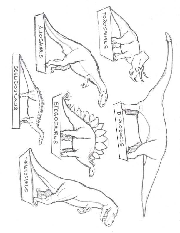 612x792 Dinosaur Drawings