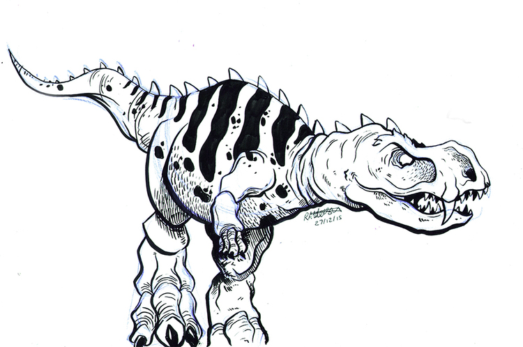 750x497 Dinosaur Sketch