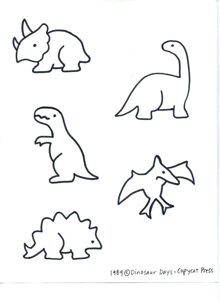 736x1012 Drawn Dinosaur Simple