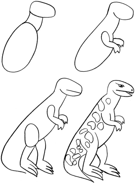 450x607 How To Draw Dinosaurs