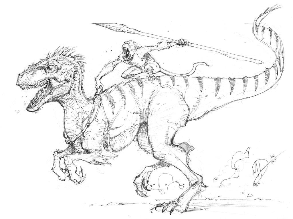 1024x765 Imaginary Dinosaur By Max Dunbar