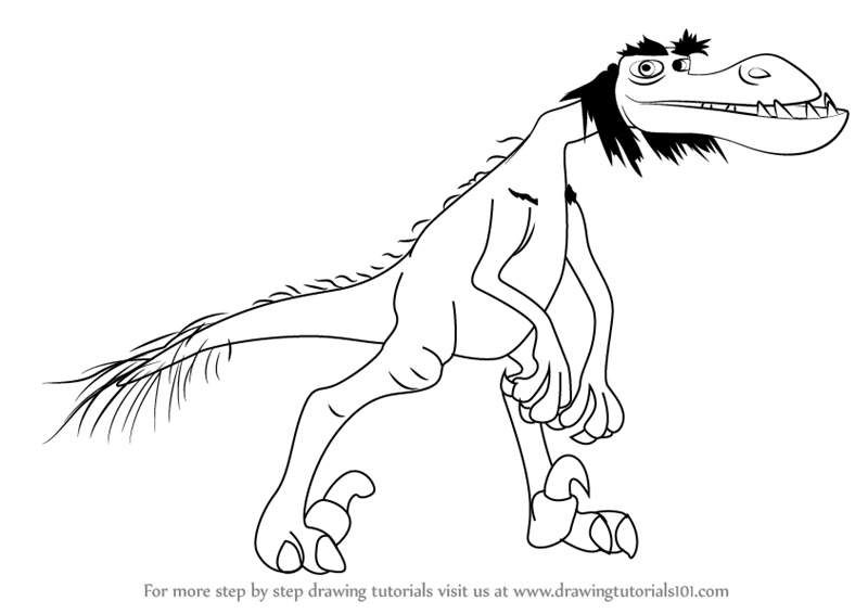 800x566 Learn How To Draw Lurleane From The Good Dinosaur (The Good
