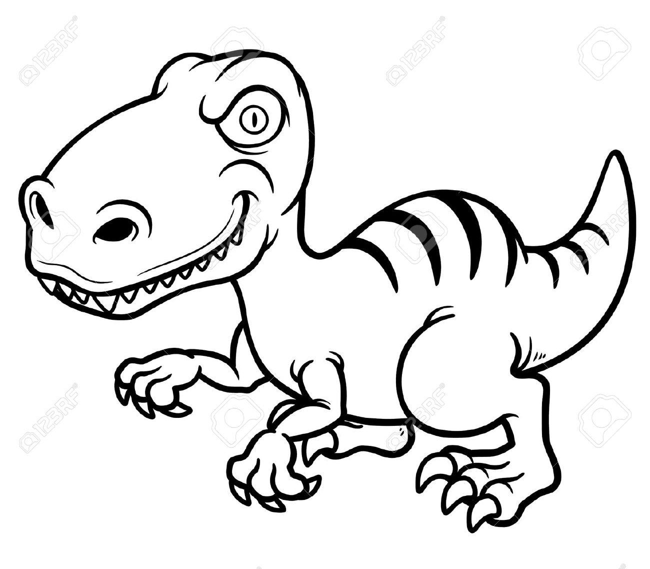 1300x1137 Cartoon Dinosaur Drawing Easy Drawings