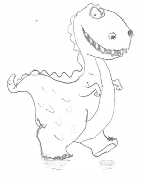 468x579 Marks And Spencer Sends Cheeky Customer A Smiley Dinosaur Drawing