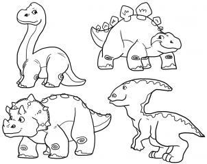 302x239 How To Draw Cute Dinosaurs, Cute Dinosaurs Step 2 Dino