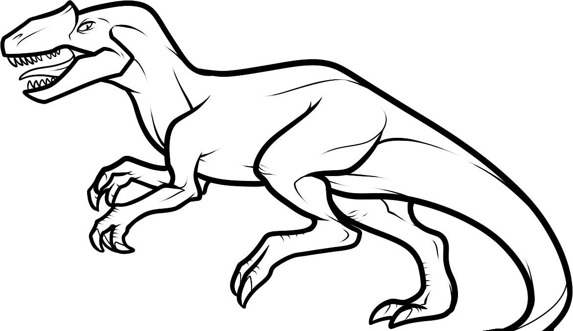1171x677 Dinosaur Drawing For Kids Coloring Pages Draw A Dinosaur Dinosaurs