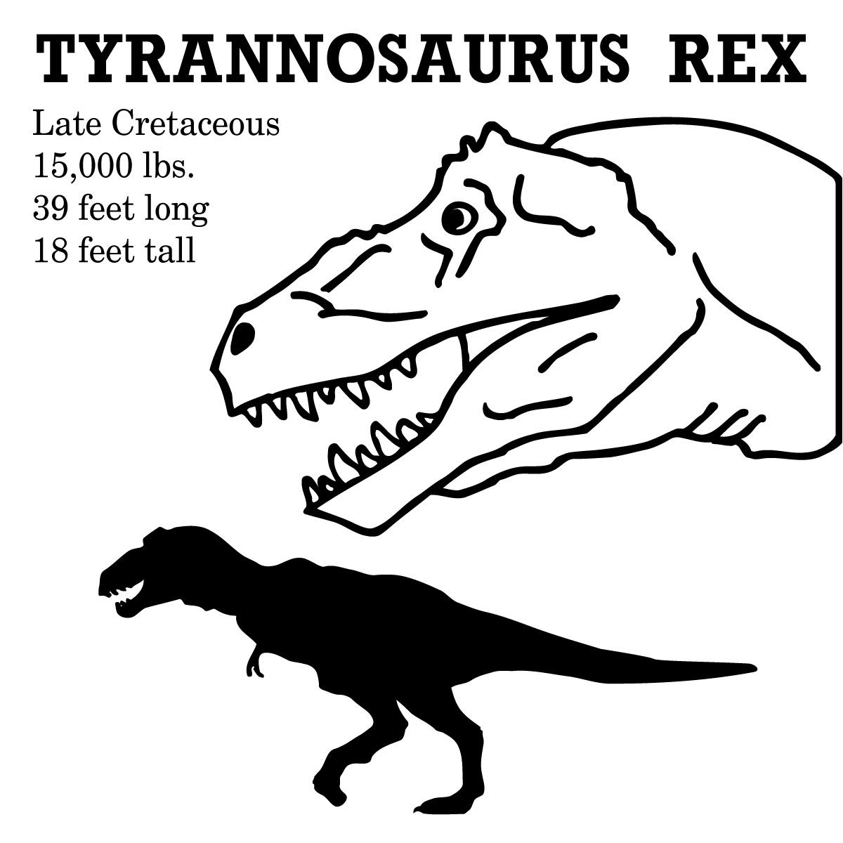 1200x1200 Tyrannosaurus Rex Clipart Dinosaur Outline