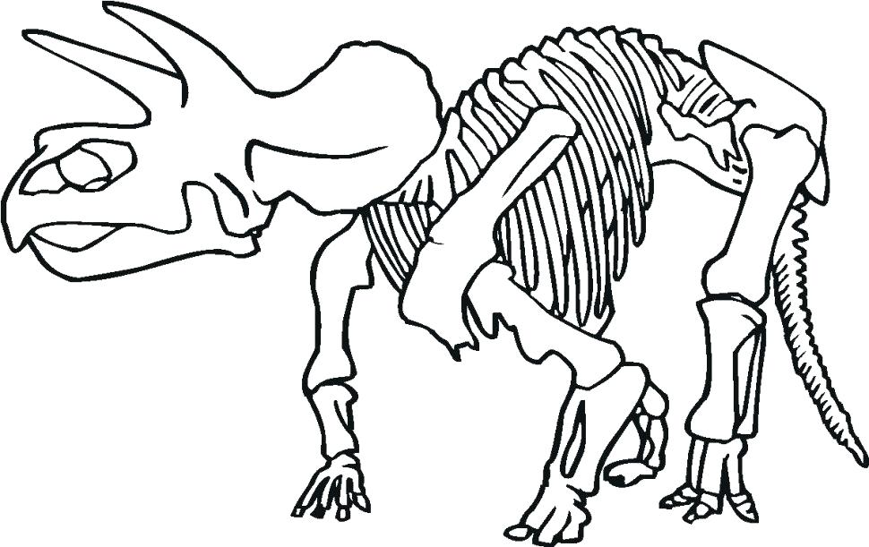 970x611 Bone Coloring Page Bone Coloring Pages Idea Dinosaur Footprint