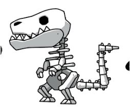 254x209 Fossil Dinosaur Coloring Page