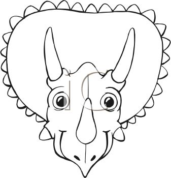 337x350 Dinosaurs Head Coloring Pages Colouring In Sweet Page Face Clipart