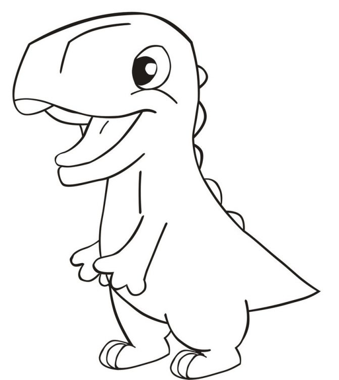 671x751 Coloring Pages Easy Dinosaur Drawings Drawing How To Draw