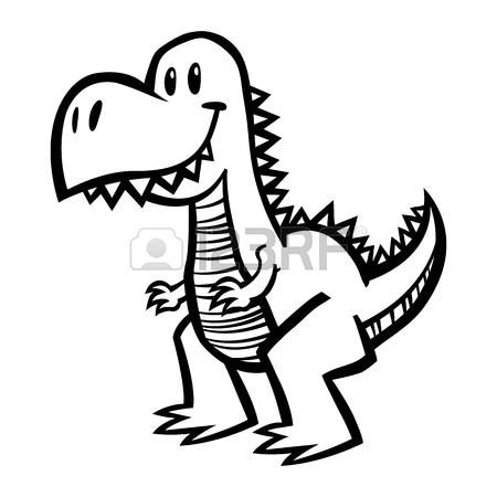 450x450 T Rex Dinosaur Cartoon Drawing Royalty Free Cliparts, Vectors,
