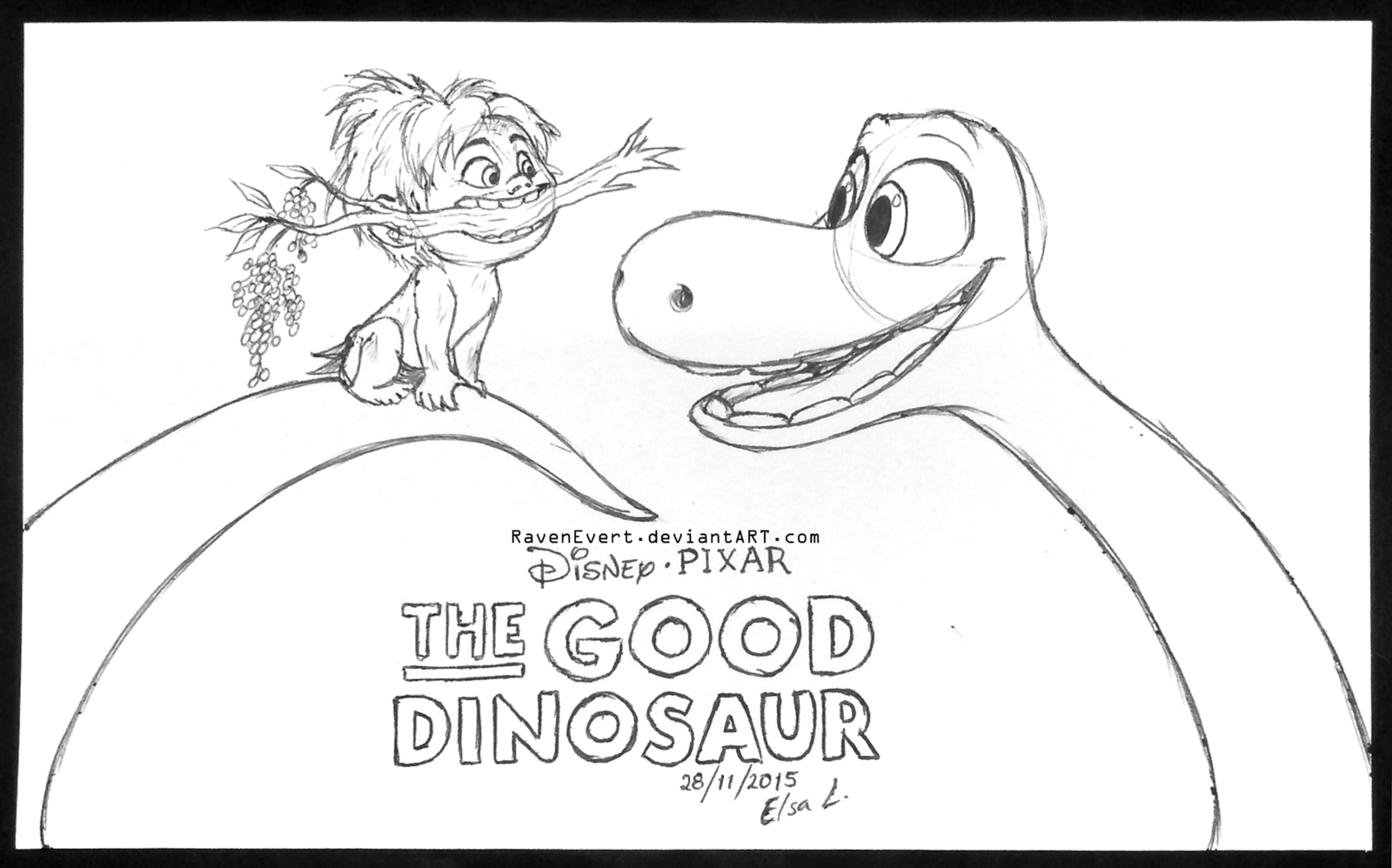 1600x998 Pictures The Good Dinosaur Sketch,