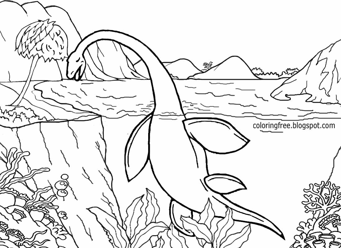 1100x800 Dinosaur Scene Coloring Pages Free Coloring Pages Printable