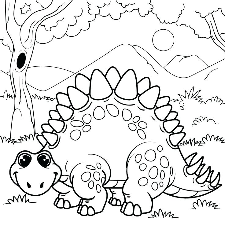 736x736 Dinosaurs Coloring Pages Plus Coloring Pages Of Dinosaurs Drawing